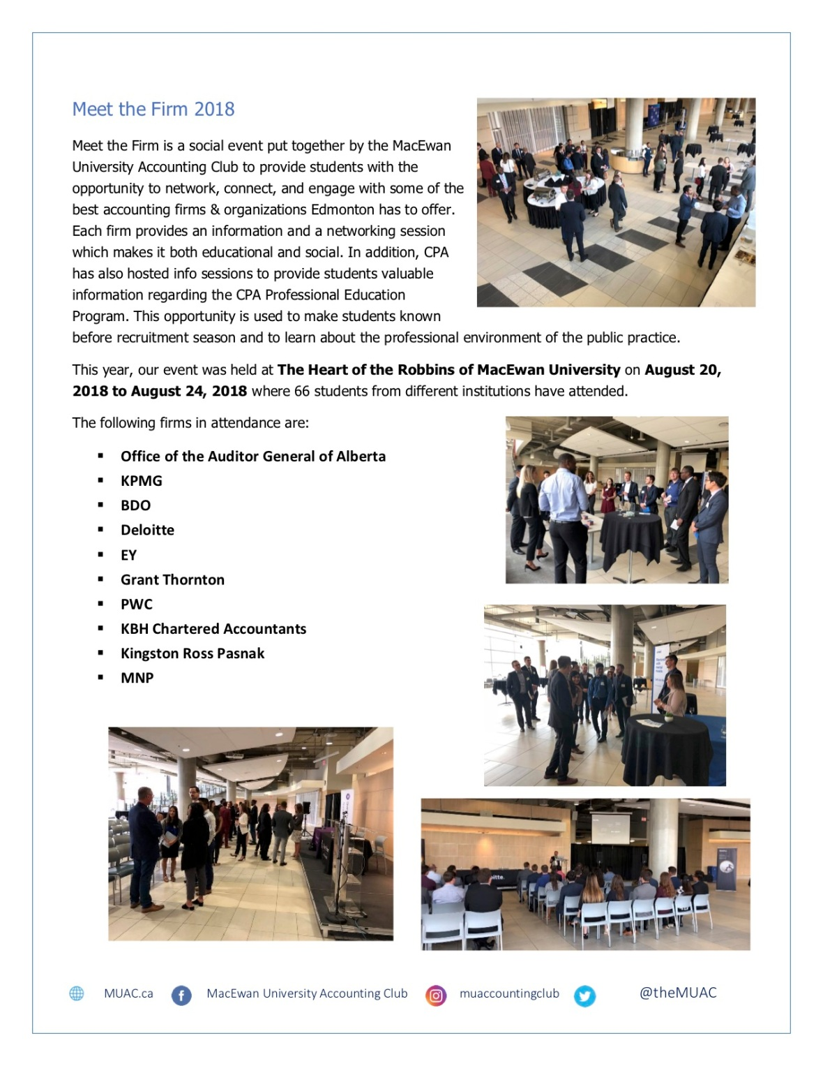 OCT - MacEwan University Accounting Club Newsletter Page 2