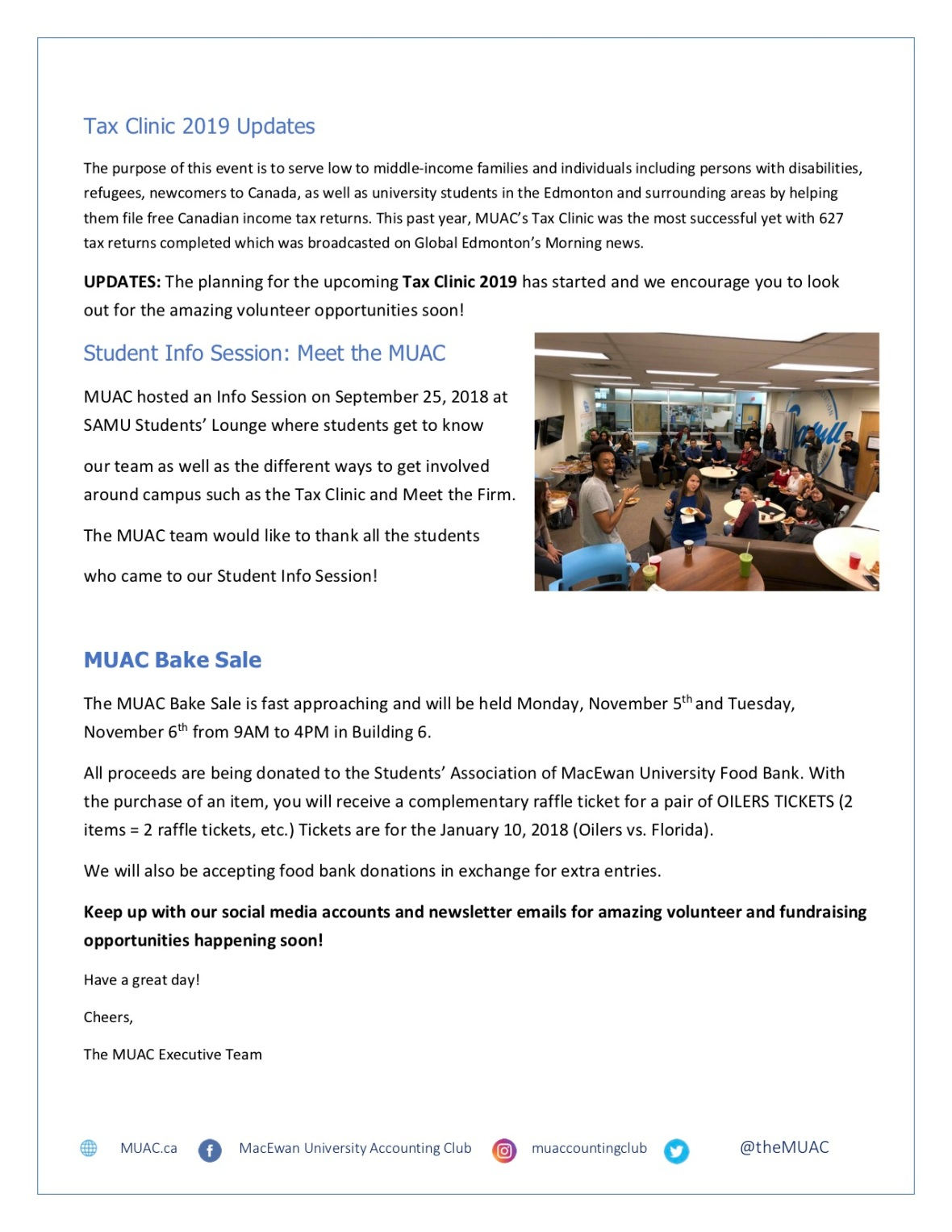 OCT - MacEwan University Accounting Club Newsletter Page 3