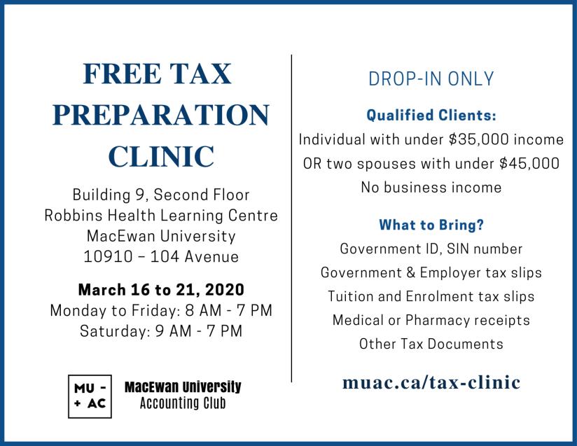 Tax Clinic 2020 Postcard