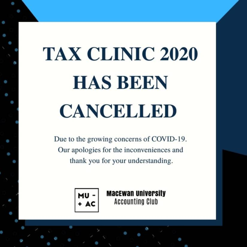 Tax Clinic is CANCELLED